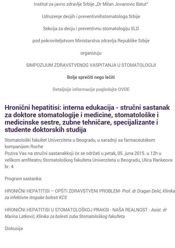 Hronicni hepatitisi - edukacija